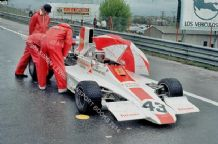 Hill Lola T370 Guy Edwards. Spanish GP grid 1974